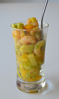 Salade de mangues, avocats et crevettes