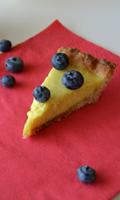 Tarte au citron et aux bleuets