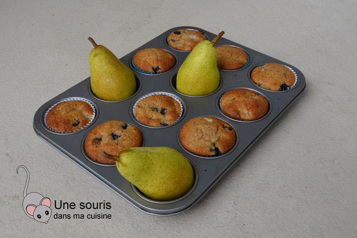 Muffins aux bleuets et poires