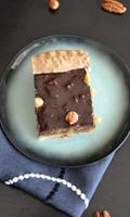 Tarte au chocolat, noisettes et poires caramélisées