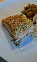 Filet de saumon à l'oignon et au panko