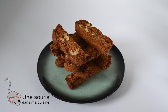 Biscottis au miel et aux noisettes sans...