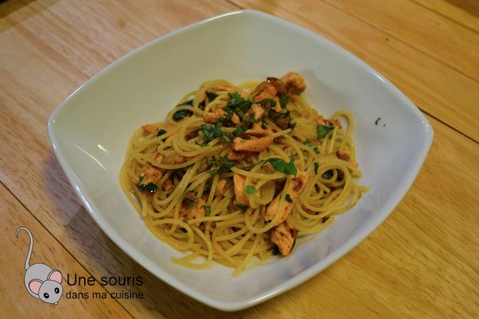 Spaghettini au poisson et au citron