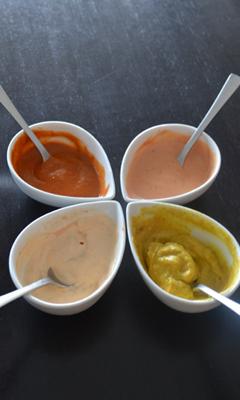 Sauces pour la fondue chinoise