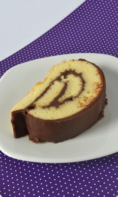 Gâteau roulé moelleux à la ganache de gianduja