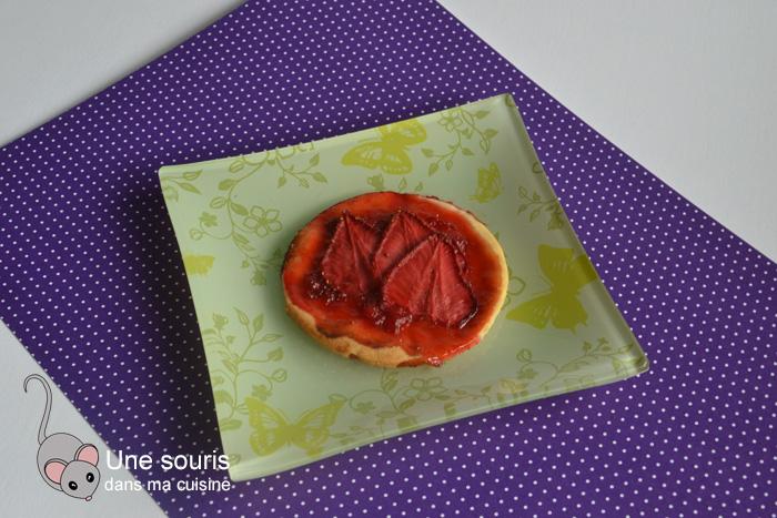 Biscuits-tartelettes aux fraises