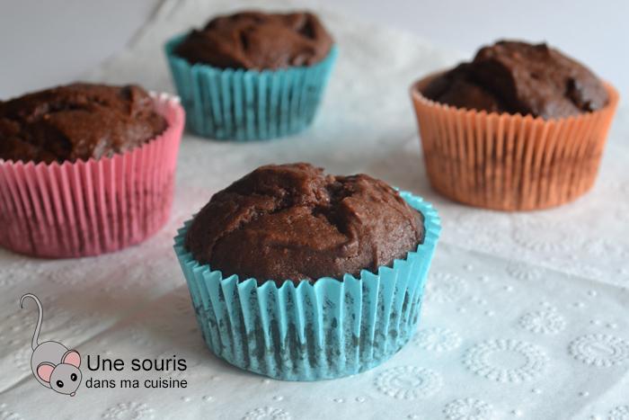 Muffins fraises et chocolat