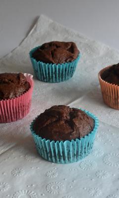 Muffins aux fraises et au chocolat
