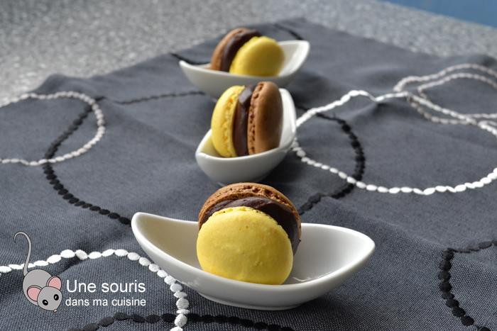 Macarons chocolat et miel
