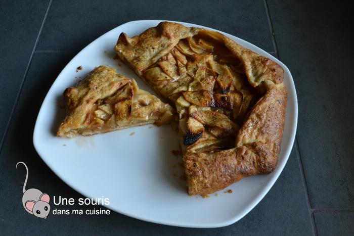 Tarte rustique improvisée aux pommes