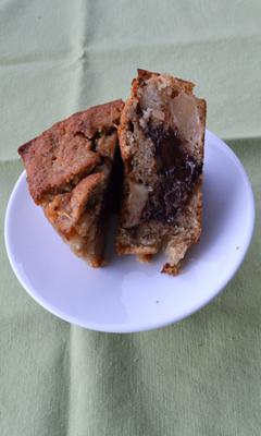 Gâteau aux pommes et au chocolat fondant