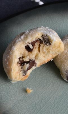 Biscuits enneigés aux pépites de chocolat