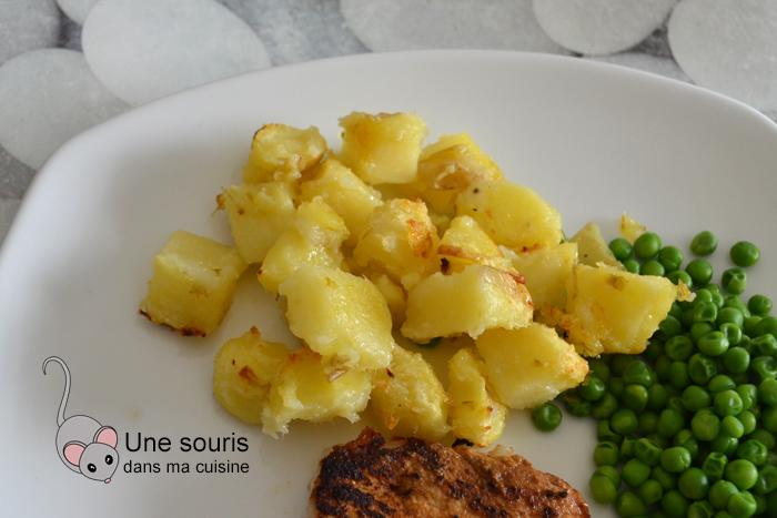 Pommes de terre rôties et fondantes