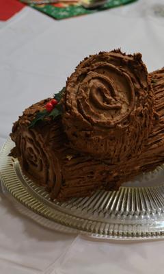 Bûche de Noël au chocolat classique