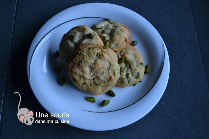 Biscuits au chocolat blanc et aux pistaches