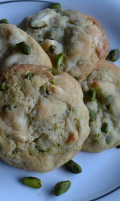 Biscuits au chocolat blanc et pistaches