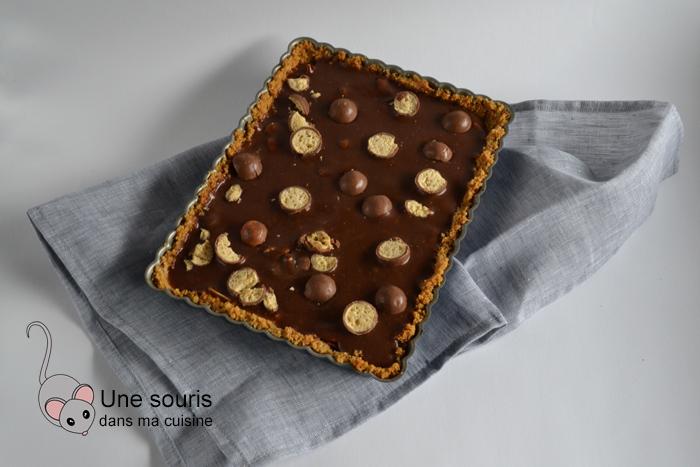 Tarte au Nutella, au caramel et aux noix