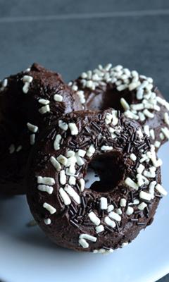 Beignes au chocolat cuit au four