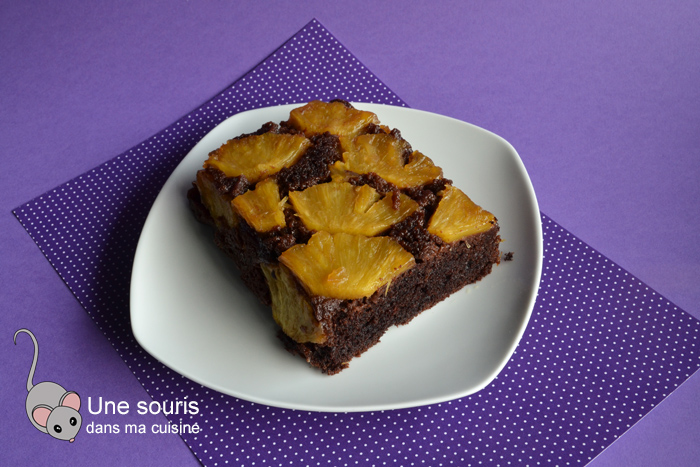 Renversé chocolaté aux ananas
