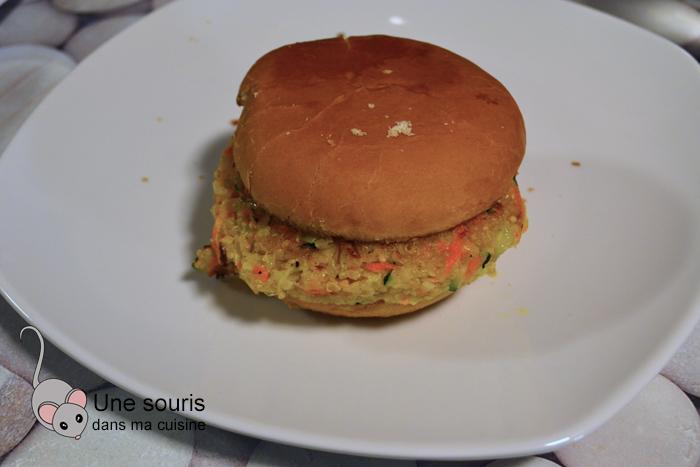 Hamburger de quinoa végé