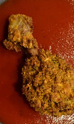 Pilons de poulet à la chapelure de salami