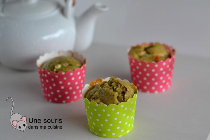 Muffins au thé vert et aux amandes