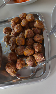 Boulettes de chair de saucisse au bacon et à l'érable