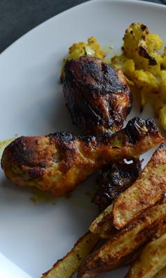 Pilons de poulet à la moutarde et au miel