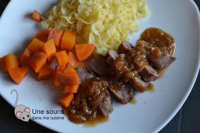Magret de canard, sauce aux échalotes