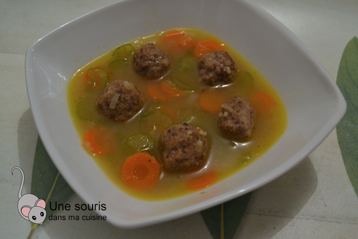 Soupe ragoût de boulettes