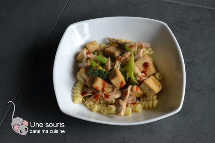 Tofu au miso, à l'érable et brocoli
