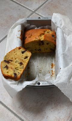 Gâteau au poire et aux pépites de chocolat