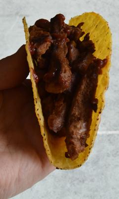Tacos de protéine végétale texturée