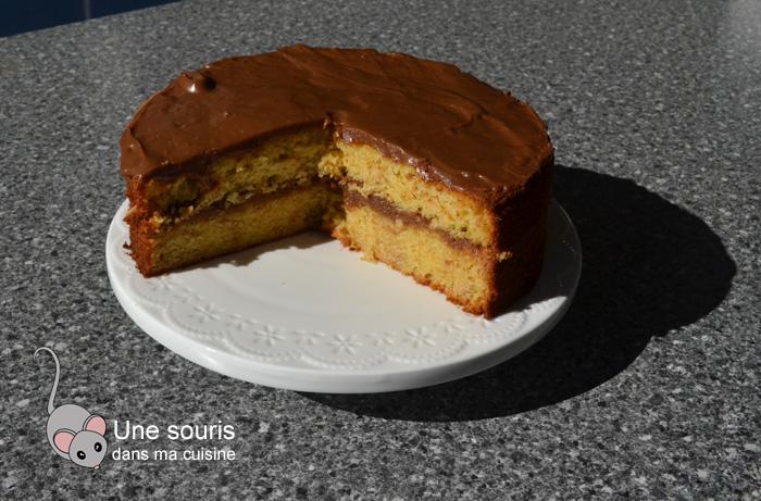 Gâteau s'mores sans guimauve