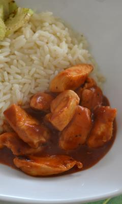 Poulet au miso et à la tomate