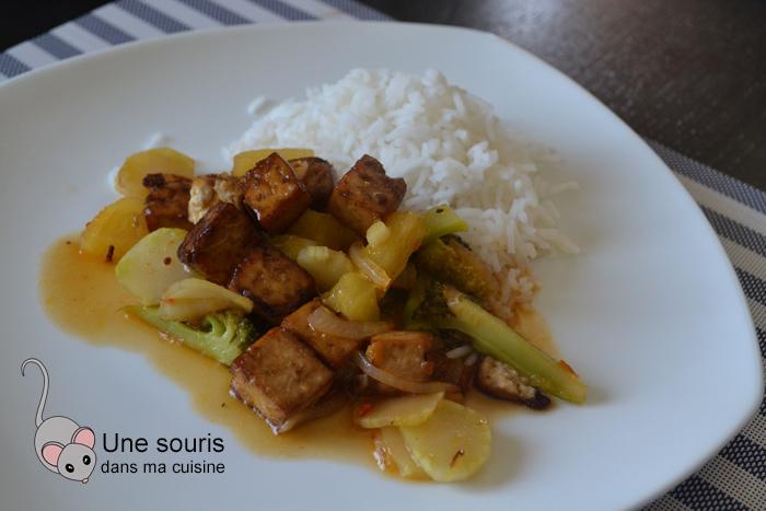 Tofu à l'ananas