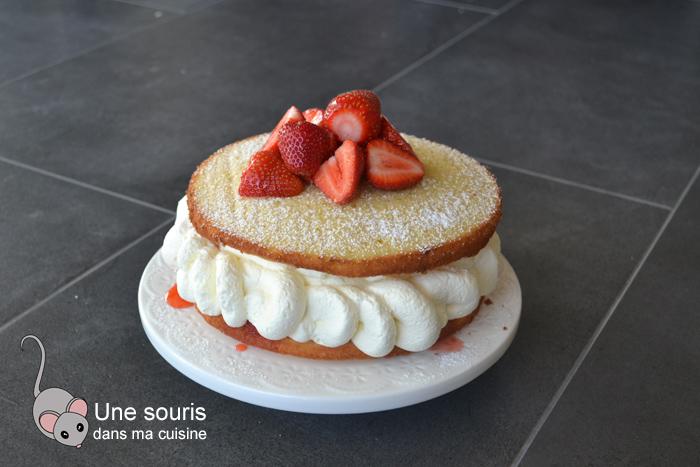 Gâteau aux fraises et au citron