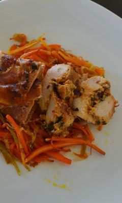 Poitrines de poulet farcies à la ricotta et aux tomates séchées