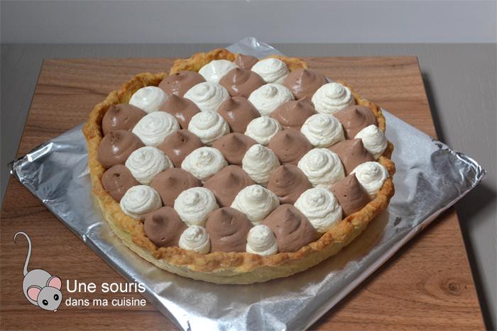 Tarte à la vanille, au chocolat et au caramel