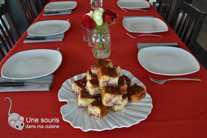 Gâteau citron et framboises