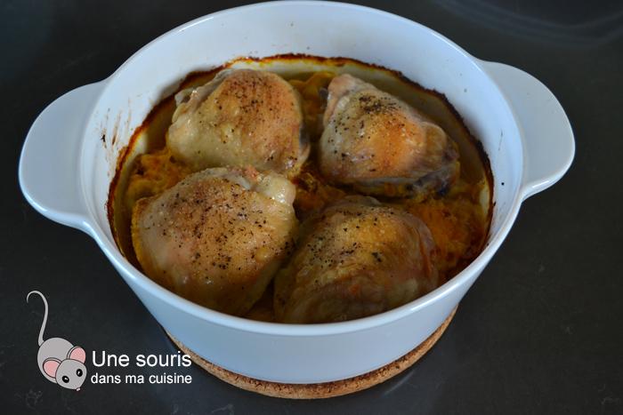 Gratin de poulet-tortellinis