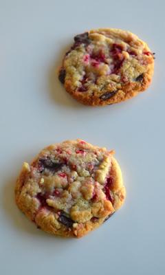 Biscuits aux framboises et au chocolat