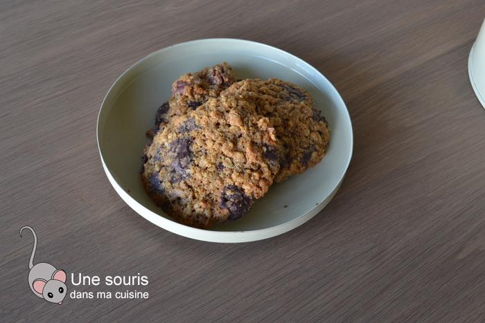 Biscuits aux flocons d'avoine, épeautre, noix et chocolat