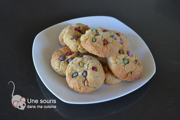 Biscuits aux Smarties collés
