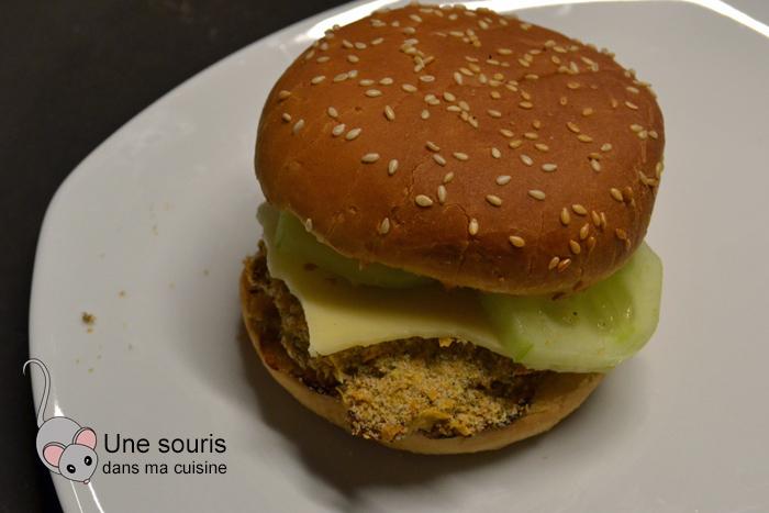 Burger au poulet croustillant santé