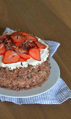 Gâteau Forêt-fraise
