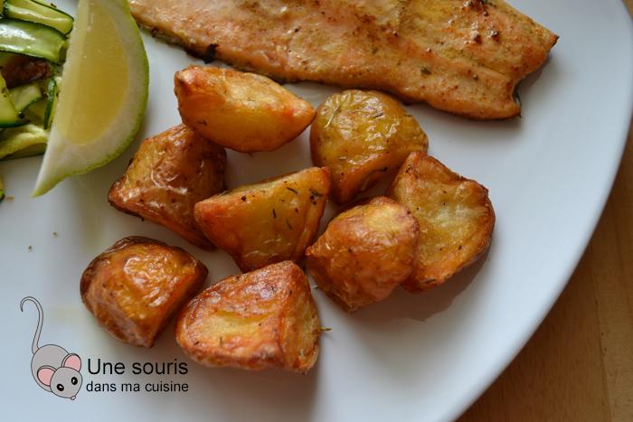 Pommes de terre rôties au romarin et au thym