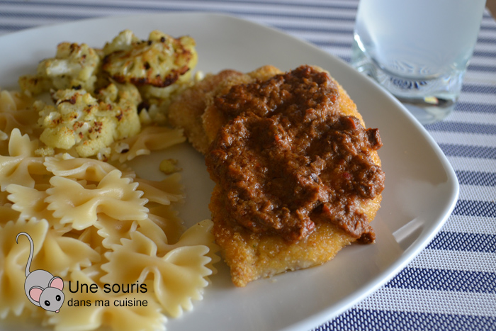 Escalopes de porc garnies de sauce