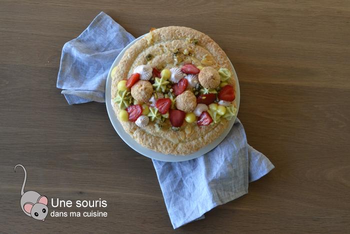 Succès fraises, pistaches et citron