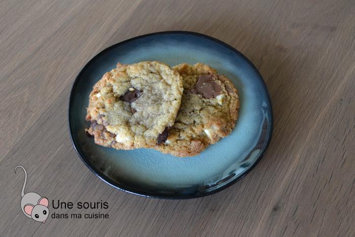 Biscuits au beurre noisette, chocolat et fleur de sel d'Isa